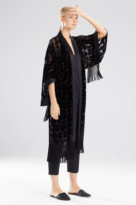 Buy Josie Natori Oriental Poppy Burnout Robe from