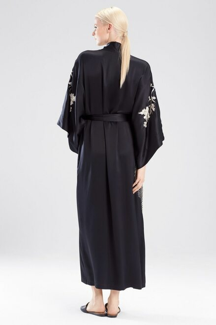 Josie Natori Peacock Embroidery Robe at The Natori Company