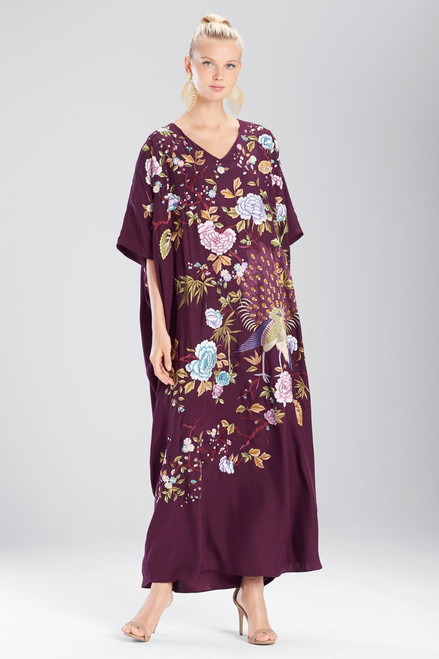 Josie Natori Couture Japanese Garden Caftan at The Natori Company