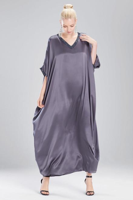 Josie Natori Couture Trim Beaded Caftan at The Natori Company