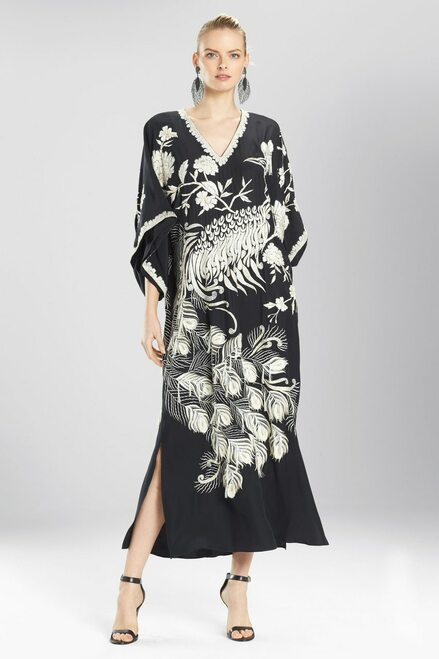 Buy Josie Natori Couture Golden Peacock Caftan from