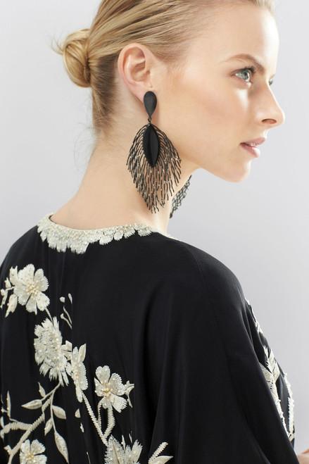 Josie Natori Couture Golden Peacock Caftan at The Natori Company
