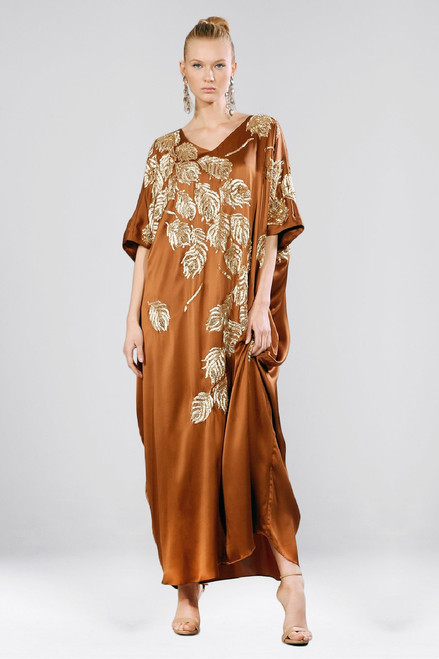 Buy Josie Natori Couture Beaded Peacock Caftan from