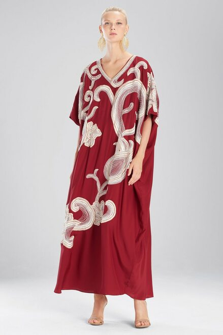 Buy Josie Natori Couture Floral Scroll Caftan from