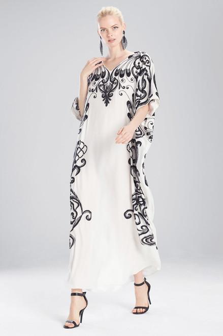 Josie Natori Couture Spiral Floral Caftan at The Natori Company