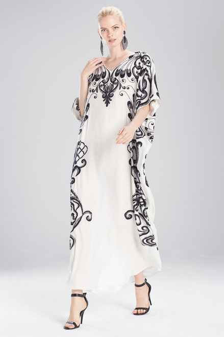 Buy Josie Natori Couture Spiral Floral Caftan from