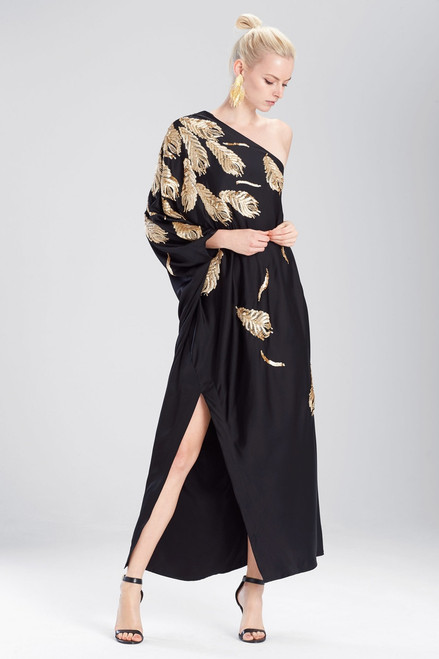 Josie Natori Couture Falling Feathers Caftan at The Natori Company