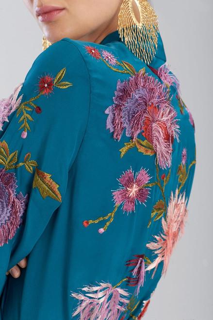 Josie Natori Couture Fringe Floral Robe at The Natori Company