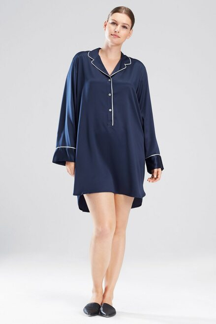 Feathers Satin Essentials Sleepshirt at The Natori Company