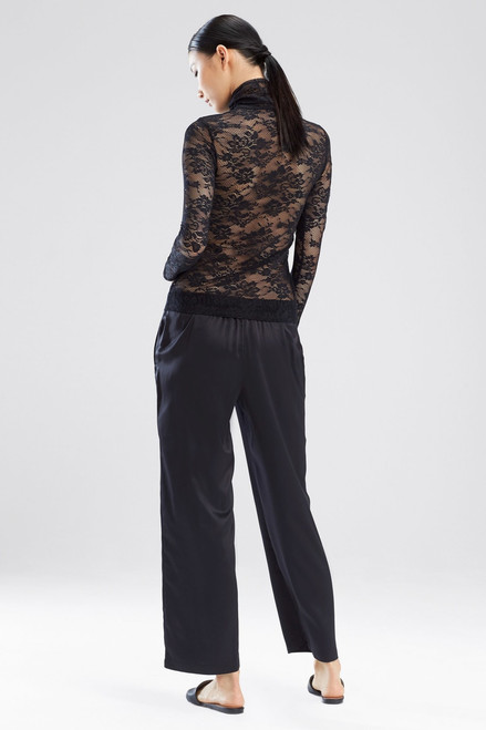 Natori All Over Lace Turtleneck Top at The Natori Company