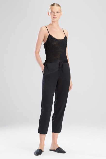 Buy Feathers Satin Elements Cropped Pants from