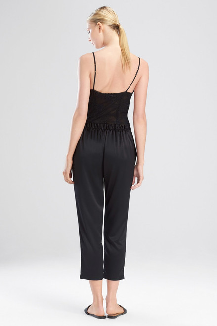 Natori Feathers Satin Elements Cropped Pants at The Natori Company