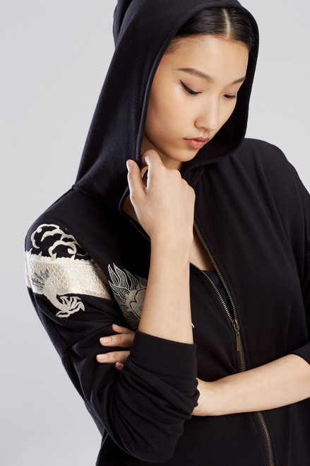 Natori Cocoon Embroidered Hoodie at The Natori Company