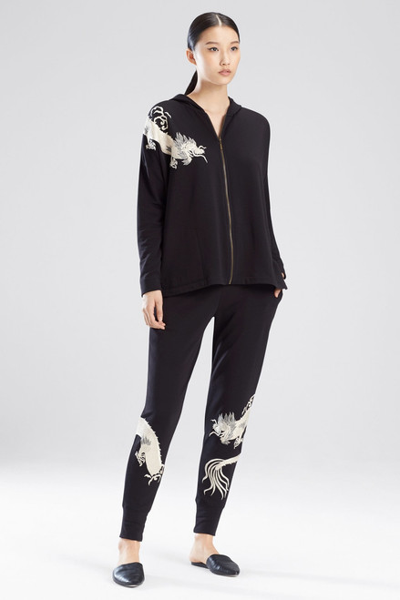 Buy Natori Cocoon Embroidered Hoodie from