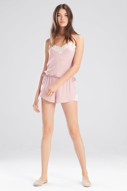 Josie Washed Satin Romper at The Natori Company