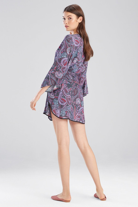 Josie Nomad Wrap Charcoal/Pink at The Natori Company