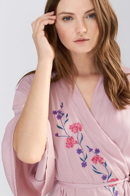 Josie Bardot Satin Embroidered Wrap at The Natori Company