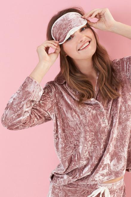 Josie Velvet Crush PJ Set With Eyemask at The Natori Company