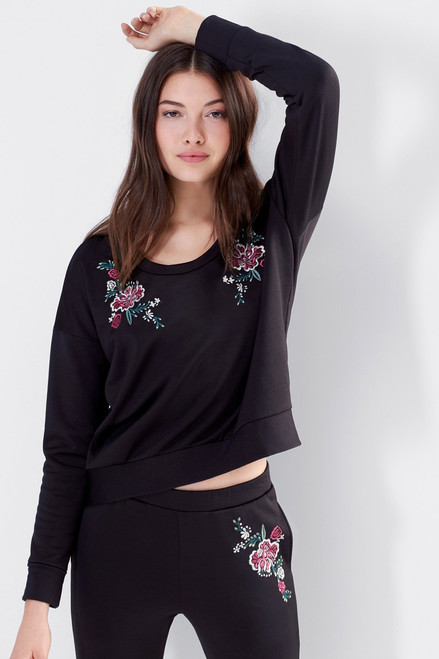 Josie Otherwear Fleece Embroidered Pants at The Natori Company