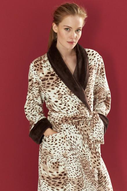 N Natori Snow Leopard Robe at The Natori Company