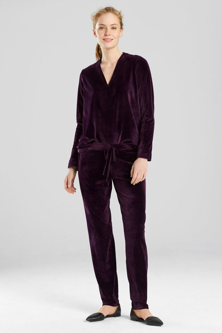 N Natori Velour Solid Pants at The Natori Company