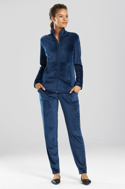 Buy N Natori Velour Zip-Up Jacket from