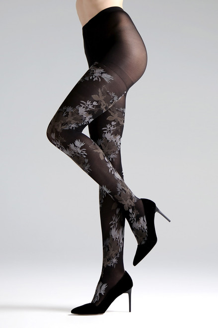 Buy Natori Brushed Deco Opaque Tights from