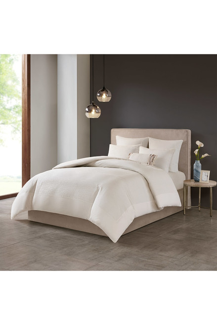 Buy N Natori Hanae White Duvet Cover Set from