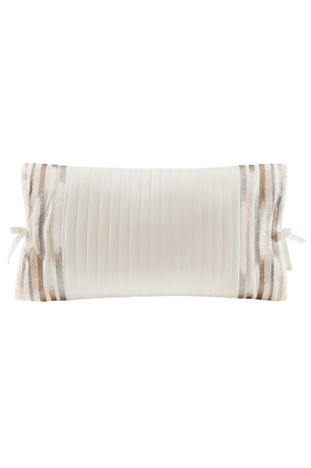 Buy N Natori Hanae White Embroidered Oblong Pillow from