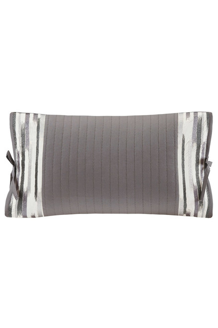 Buy N Natori Hanae Gray Embroidered Oblong Pillow from