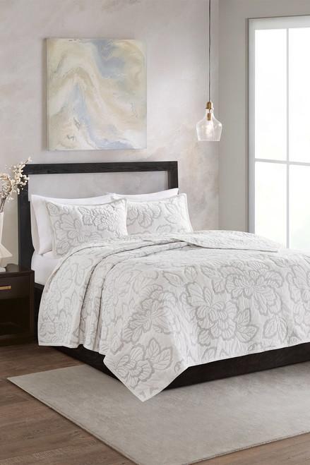N Natori Kira Quilt White Comforter Set at The Natori Company