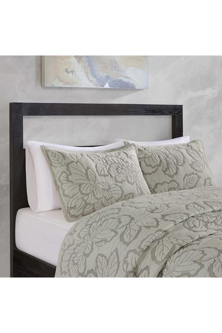 N Natori Kira Quilt Gray Comforter Set at The Natori Company