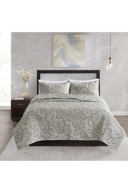 Buy N Natori Kira Quilt Gray Comforter Set from
