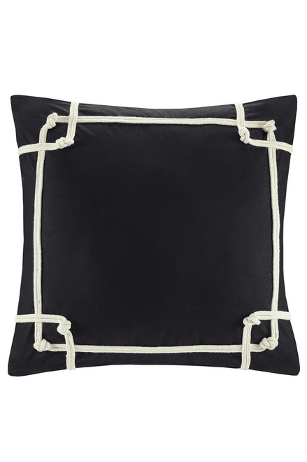 Buy N Natori Shandong Black Embroidered Pillow from