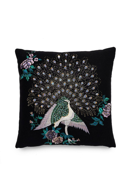Buy Natori Mayon Beaded Peacock Embroidery Pillow from