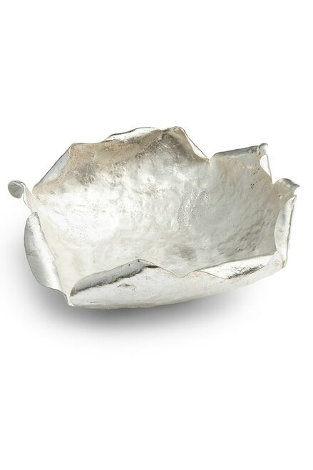 Buy Natori Samar Silver Plated Medium Bowl from