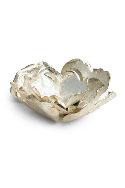 Buy Natori Samar Silver Plated Candle Holder from