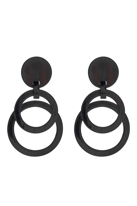Buy Horn Double Circle Earrings from