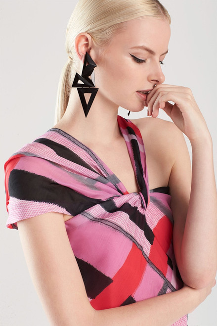 Horn Triangle Mix Earrings at The Natori Company