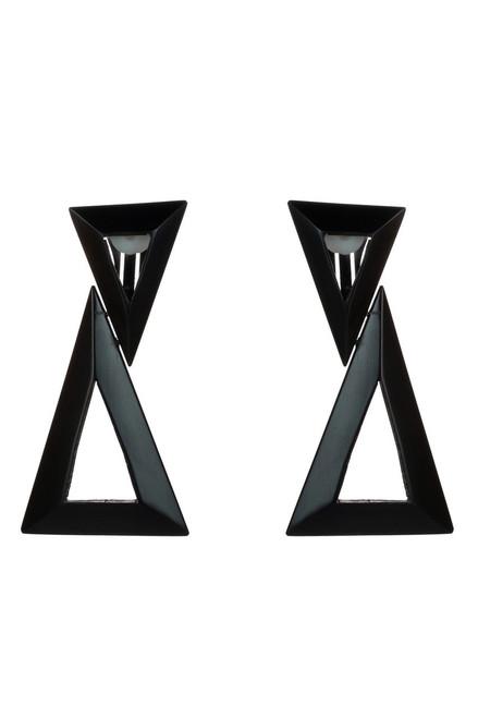 Buy Horn Double Triangle Earrings from