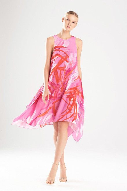 Josie Natori Prism Handkerchief Hem Dress at The Natori Company