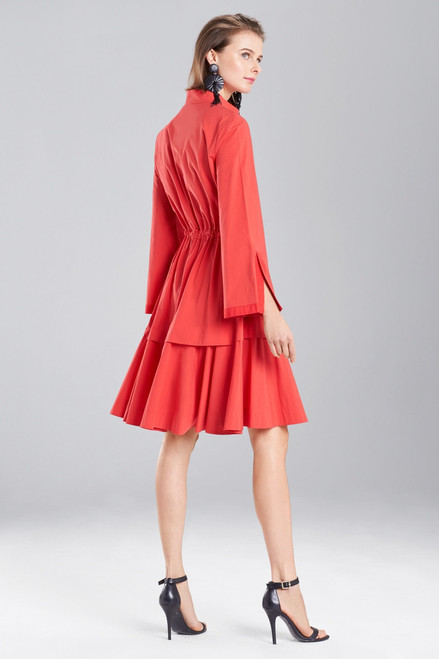 Josie Natori Cotton Poplin Mandarin Dress at The Natori Company