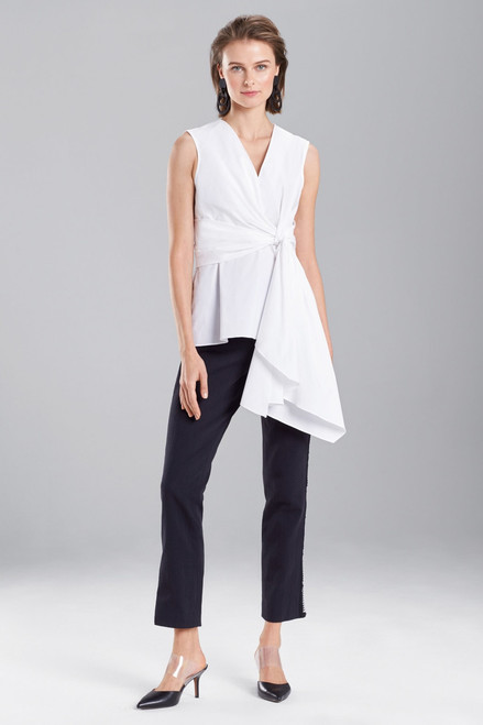 Buy Cotton Poplin Knotted Sleeveless Top from