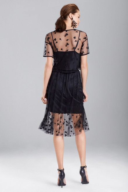 Embroidered Mesh Top at The Natori Company