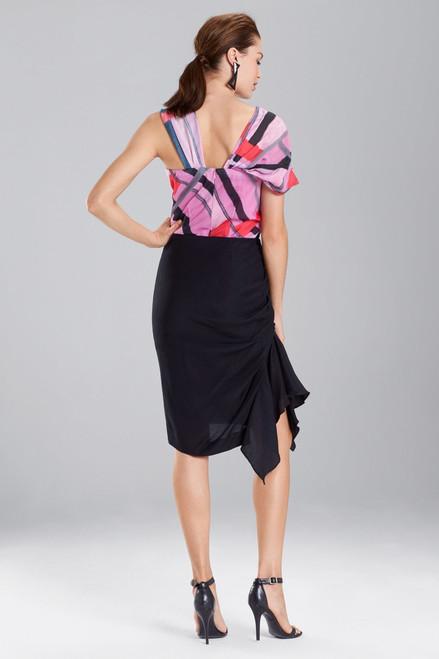 Josie Natori Cotton Like Rouched Skirt at The Natori Company
