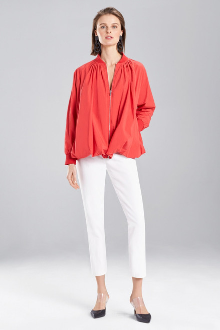Josie Natori Cotton Poplin Bomber Jacket at The Natori Company