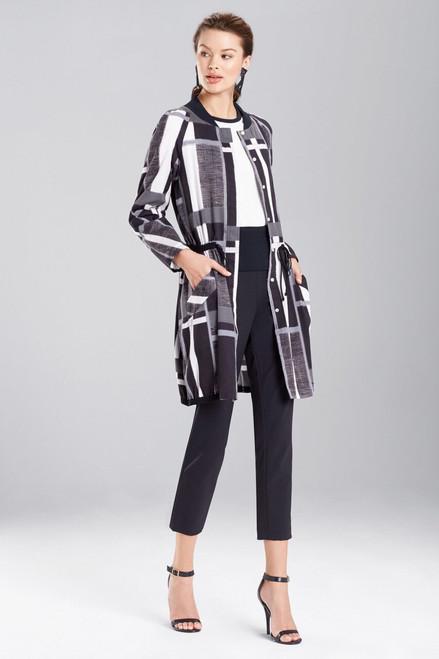 Buy Josie Natori Taisho Stripes Cotton Jacket from