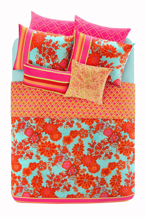 "Josie Decoiserie Comforter Mini Set Pajamas, Women's, Purple, 100% Cotton, Size Full/Queen Natori. Decoiserie infuses bold, floral prints with art deco-inspired shapes for the feminine girl with a modern twist. Face: 100% cotton dobby with print. Back: 200-thread count 100% plain cotton. Filling: 100% polyester. Recommended care: machine washable. Imported. Twin (72"" X 90"" / 20"" X 26"", includes one matching sham): $169.99. Full/Queen (92"" X 96"" / 20"" X 26"", includes two matching shams): $199.99. King (110"" X 96"" / 20"" X 36"", includes two matching shams): $229.99. The Natori Company designs high-end women's fashion, including Intimates, Sleepwear, Lingerie, Ready-to-Wear, Home, Perfume, Towels, Eyewear, and more. Using an Asian aesthetic, Josie Natori was able to build a distinct brand, melding the visual appeals of both the East and the West. The Natori Life is glamorous style that reflects how a woman sees herself: feminine, strong, independent, and creative. Shop Josie Natori for lu"