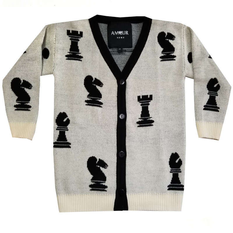 Chess Sweater Cream