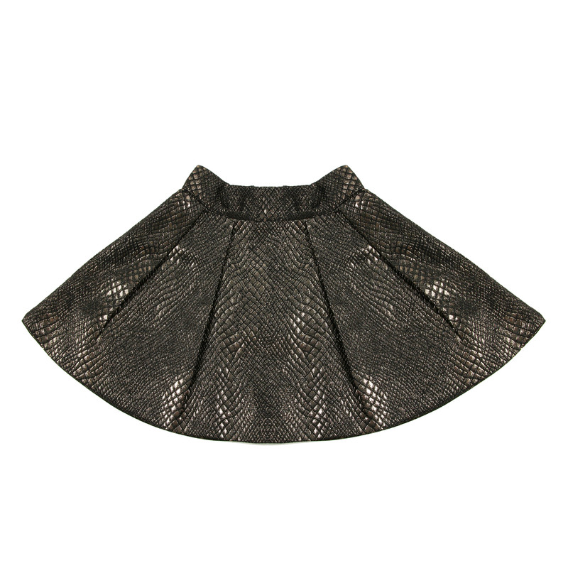 Python high-waisted  skirt